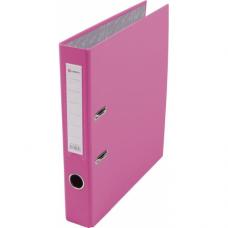 Папка-регистратор А4 50мм ПВХ цвет розовый карман на корешке +метал.окантовка Lamark AF0601-PN1