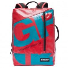 Акция!Рюкзак молодежный 11л Grizzly нейтральный красный 29*40*10см RU-705-1