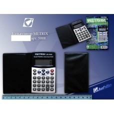 Калькулятор карманный 08-разрядов METRIX 5008 чехол-книжка 6*9см
