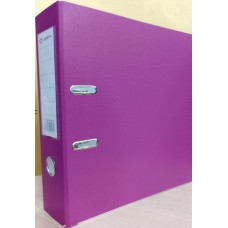 Папка-регистратор А4 80мм ПВХ цвет фиолетовый/лавандовый карман на корешке Lamark AF0600-VL