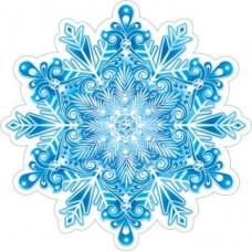 Наклейка декоративная на скотче 11*11см Снежинка 7-66-5187А