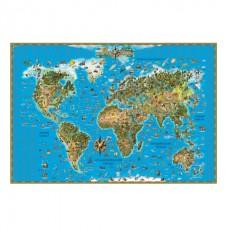Карта настенная МИР ДЛЯ ДЕТЕЙ 116*79см 629