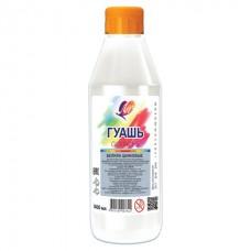 Гуашь белая 500мл цинковая Луч 19С1298-08 классическая в пласт.бутылке с дозатором