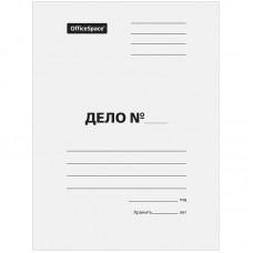 Обложка картонная без сшивателя ДЕЛО 380гр белая мелован. Офис-спейс A-PD38M_350/158532