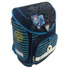 Ранец формованный с кнопкой Ranzelot мужской МОРСКОЙ темно-синий P-1501