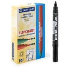 Маркер водный для бумажного блока FLIPCHART черный Centropen 8550/1 0112