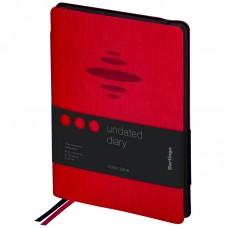 Ежедневник А5 недат. 136л тв/обл кожзам Color Zone красный, черн.срез, крем.блок Berlingo UD0_86507