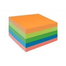 Блок самоклеящ.51*51мм 250л (5 цветов*50л) неон Lamark SN0500