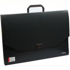 Портфель пластик А3  1 отделение цвет черный Berlingo MP3311