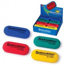 Ластик Brauberg Овальный большой яркий 55*23*10 мм 222470 термопластичная резина