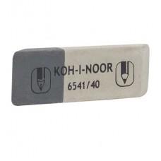 Ластик Koh-i-Noor Sunpearl 6541/40 бело-серый скошенный большой (Чехия) для чернил и карандашей