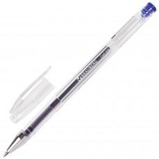 Ручка гель Brauberg синяя 0,5мм прозрачный корпус JET 141019