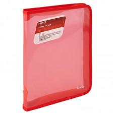 Папка для тетрадей А5+ молния вокруг Тонированная красная Axent 1802-24-A (28*21см) Zipper Folder