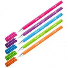 Ручка шар. Berlingo Starlight синяя 0,7мм игольчатая, яркий прорезиненный корпус CBp_07250