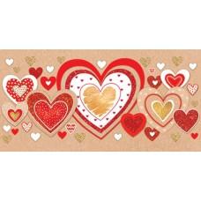Открытка-конверт Сердца 4-15-14019А