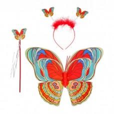 Костюм карнавальный Радужная бабочка (3предмета: крылья, жезл, ободок) 1072695  в пакете