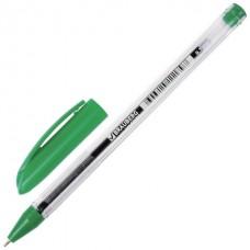 Ручка шар. Brauberg Rite-oil зеленая 0.7мм масляная прозрачный корпус 142149