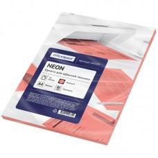 Бумага для принтера А4 цветная 80г/ 50л неон розовый Офис-спейс 245197