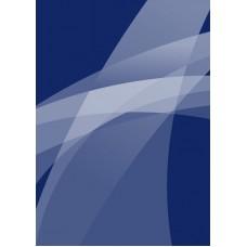 Блокнот А5 40л спираль Офис-Лидер Синяя графика 06426
