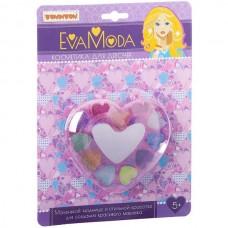 Косметика для девочек Сердце (тени д/век 11цв с блёстками,зеркальце) 5+ Bondibon ВВ1776 блистер