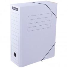 Короб архивный картон 100 мм на резинке белый Офис-Спейс 225427
