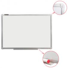 Доска магнитно-маркерная100*150см белая настенная Brauberg 235523 алюминиевая рамка с полкой