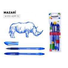 Ручка шар. Mazari 5701 синяя 0,7мм игольчатая масляная TORINO (торино)  M-5701-70 (аналог 5022)