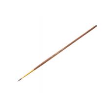 Кисть белка № 2 круглая Гамма 280618.01.02 коричневая ручка с золотом