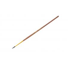 Кисть белка № 3 круглая Гамма 280618.01.03 коричневая ручка с золотом
