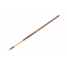 Кисть белка № 5 круглая Гамма 280618.01.05 коричневая ручка с золотом