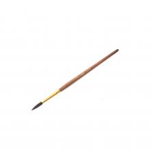 Кисть белка № 7 круглая Гамма 280618.01.07 коричневая ручка с золотом