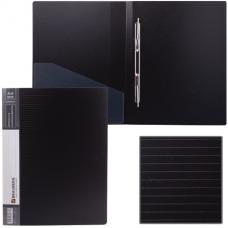 Папка с пружинным скоросшивателем цвет черный 0,70мм+карман Brauberg Contract 221781
