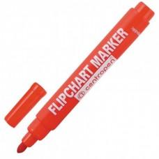 Маркер водный для бумажного блока Flipchart красный Centropen 8550/0104