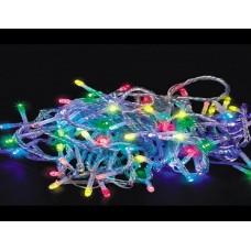 Гирлянда электро 160 ламп ЦВЕТНЫЕ прозрачный провод 12м L-3