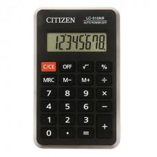 Калькулятор карманный 08-разрядов Citizen LC-310NR питание от батарейки